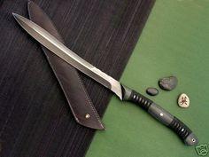 Barry Dawson Custom Knife Black Asian Fighting Sword (03/21/2008)