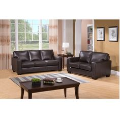 Relax in comfort and style with this ultra-premium leather sofa and leather loveseat set. This luxurious leather living room furniture is handcrafted using the finest quality materials to create exquisite leather furniture.