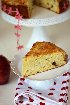 Torta di mele con ricotta senza burro e olio | Chiarapassion