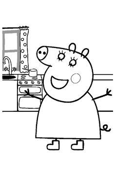 Dibujos de Peppa Pig para colorear en www.dibujosparacolorearonline.es/peppa-pig/