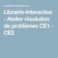 Librairie-Interactive - Atelier résolution de problèmes CE1 - CE2