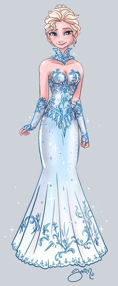 Elsa! I love this dress! It's gorgeous!
