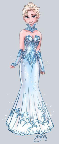 DeviantArt: More Like Elsa and Evil!Elsa by Yamino Images Disney, Art Disney, Disney Style, Disney Magic, Disney Movies, Disney Characters, Disney Crossovers, Frozen Disney, Elsa Frozen