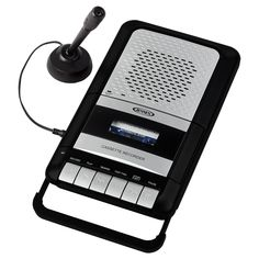 Jensen Portable Shoe-Box Cassette Recorder/Player & Voice Recorder & Built in Speakers Microphone & Power Adapter Included (Limited Edition Model) Price Voice Recorder, Cassette Recorder, Voice Levels, Music Converter, Built In Speakers, Pause, Digital Audio, Record Player, Shoe Box