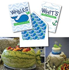 It's a whale tale! #Whale birthday #party #invitation I Custom by Nico and Lala