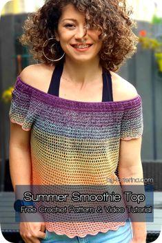 Crochet Stitches, Crochet Hooks, Crochet Baby, Free Crochet, Double Crochet, Single Crochet, Knit Crochet, Crochet Summer, Knitting Patterns