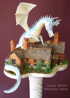Fabulous dragon cake with meticulous detail created by designer Louise Wilson, owner of Lou's Amazing Cakes in Chilworth, Surrey-Guildford, England....