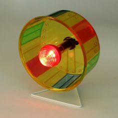 SAM162 Hamster Running Spinner Mouse Flashing Mute Lighting Wheel Pet Toy