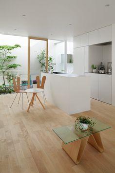 Green Edge House by mA-style Architects Fujieda, Japan.  Minimalist kitchen