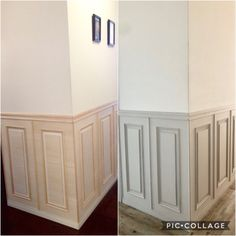 ◆【腰壁DIY】パリのアパルトマン風の廊下♡|LIMIA (リミア) Diy Furniture, Furniture Design, Dog Salon, Wall Paint Colors, Armoire, Home Improvement, Living Room, Interior Design, Storage