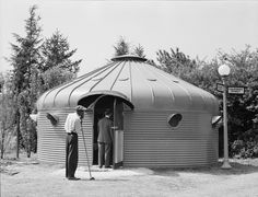 Looking rather like a set from Dr Who, Dymaxion House was the brainchild of the architect Buckminster Fuller in 1927. He wanted to create a factory-built house that was easily-asssembled and efficient to run.