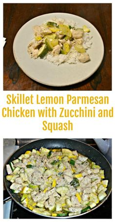 Skillet Lemon Parmesan Chicken with Zucchini and Squash | Easy Recipes | Healthy Recipes | Chicken Recipes | Zucchini Recipes | Weeknight Meals | Skillet Dinner | Skillet Meals | Weeknight recipes | Lemon Recipes | Healthy Chicken Recipes, Easy Healthy Recipes, Vegetarian Recipes, Delicious Recipes, Meals To Make With Chicken, Zucchini Pesto, Chicken Zucchini, Weeknight Meals, Easy Meals