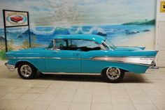 The 4 speed with the hurst shifter works well. 1957 Chevy Bel Air, 1955 Chevrolet, Chevrolet Bel Air, Vintage Cars, Antique Cars, Automobile, Chevy Muscle Cars, Old Trucks, Hot Cars