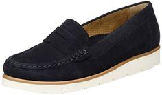 Gabor Shoes Damen Fashion Mokassin, Blau (Pazifik 16), 36 EU