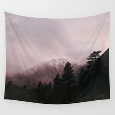 Misty Sunset on Convict Mountain Wall Tapestry by Los Adventures - $39.00