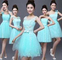 Beauty-Emily Short Sky Blue Cheap Lace Bridesmaid Dresses 2017 A-Line Sleeveless Off the Shoulder One Size Light Blue Bridesmaid Dresses, Bridesmaid Dresses 2017, Dama Dresses, Prom Dresses, Formal Dresses, Organza Dress, Lace Dress, Lace Skirt, Frocks And Gowns
