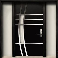 Modern Contemporary Door -Modern Wood Door with Stainless Steel Design & 2 Side . Modern Contemporary Door -Modern Wood Door with Stainless Steel Design & 2 Side lites installed in Whity,Ontario by