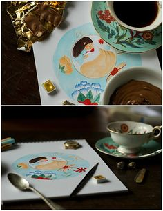 Illustrator's breakfast:  See more pictures of my cup fairy here: http://sovahuova.tumblr.com/