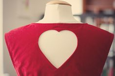 Heart cut-out alteration for the Belladone dress