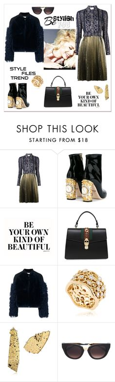 """""""Be your kind of beautiful"""" by zabead ❤ liked on Polyvore featuring 3.1 Phillip Lim, Dolce&Gabbana, Gucci, MSGM, Aurélie Bidermann, Maison Margiela and Thierry Lasry"""