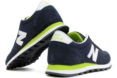 NEW BALANCE WL501NVG    Navy / Lime Green    Description  Add a new twist to your favorite casual outfit with these sharp and stylish WL501 sneakers from New Balance Classics.  Combination nylon and suede upper for breathable comfort.  Lightly padded collar and tongue.  Lace-up front to ensure the perfect fit.  Cushioned EVA foam midsole provides a comfortable feel.  Durable and lightweight rubber outsole.