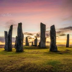 Callanish Stones before sunrise, Scotland.