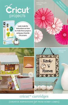 Hobby Lobby Project - Cricut Projects - Scrapbooking Projects, rosettes, cake box, wall art,
