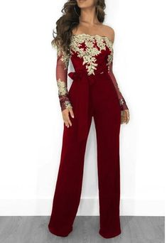 4be7f86d471f Women Summer Slash Neck Sequined Jumpsuit Sexy Long Straight Pants Elegant  Rompers Floral Print Office Lady