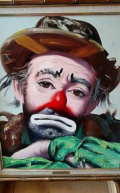 Emmett Kelly Jr. Original Oil Painting By D.L. Rusty Rust Dejection