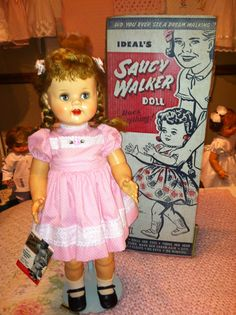 1950's ideal saucy walker with original box.