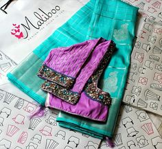 Silk Saree Blouse Designs, Blouse Neck Designs, Blouse Styles, Baby Tumblr, Maggam Work Designs, Hand Work Blouse Design, Hand Embroidery Designs, Blouses, Colour Combo