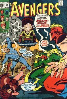 Avengers 86 - Marvel Comics Group - March - 86 - The Flash - Brain Child - John Buscema