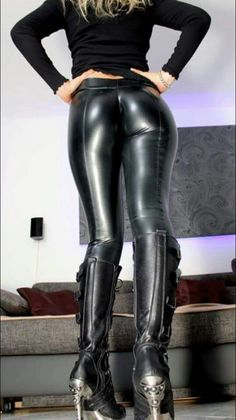 tight latex girls ass in