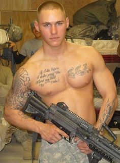SUPPORT THE TROOPS! He makes me wish I would have joined the military... lol