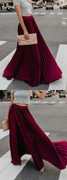 0646aaf30b Hot Pink High Waist Pleated Detail Women Maxi Skirt Maxi Skirts Online,  Womens Maxi Skirts