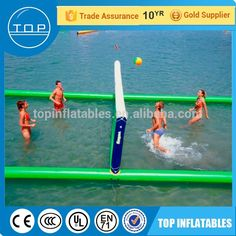 TOP inflatable volleyball court water sport game volleyball field for sale