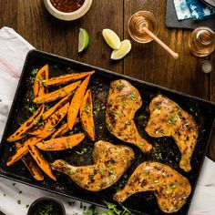 Chipotle-Glazed Chicken and Sweet Potato Sheet Pan Supper  | Ready Set Eat