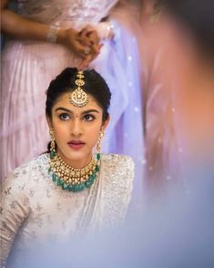 The expression says it all! Too many emotions going on Shot by . Indian Bridal Fashion, Indian Wedding Outfits, Indian Bridal Lehenga, Bridal Outfits, Bridal Dresses, Wedding Looks, Bridal Looks, Bridal Style, Dream Wedding