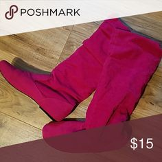 Slouch boots Pink slouch boots Shoes