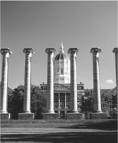 """After fire consumed Academic Hall on Jan. 9, 1892, Board of Curators President G.F. Rothwell wrote these immortal words:   """"… Let these columns stand. Let them stand a thousand years … a memorial to …  [those] who in their magnificent presence learned what life and duty are … to live  the one and do the other. They will be a rallying point of future devotion and  service to the university …."""""""
