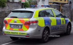 An Garda Siochana Traffic Corps Toyota Avensis Estate in Midleton, Cork July Toyota Avensis, Toyota Cars, Erin Go Bragh, Rescue Vehicles, Emergency Vehicles, Police Cars, Law Enforcement, Cork, Countries