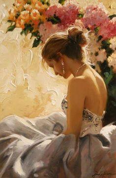 """A woman's perfume tells more about her than her handwriting. "" Christian Dior Artist: Richard Johnson"