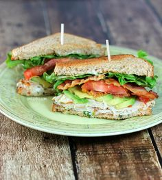 Emily Bites - Weight Watchers Friendly Recipes: California Club Sandwich
