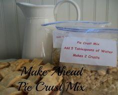 Make Ahead Pie Crust Mix   Saving 4 Six