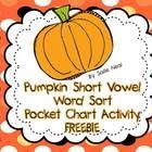 Pumpkin Short Vowel Sort
