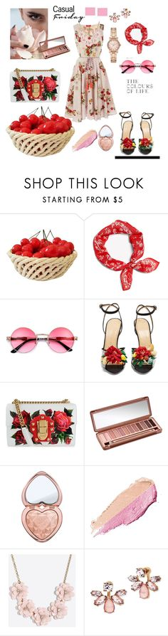 """Sweet"" by selma-masic1 ❤ liked on Polyvore featuring Derhy, rag & bone, Charlotte Olympia, Dolce&Gabbana, Urban Decay, Too Faced Cosmetics, By Terry, J.Crew, Marchesa and Michael Kors"