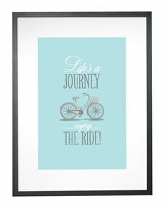 Life's a Journey Art Print