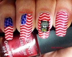"""""""Captain -Kitty- America"""" FUN 9, BMH25, MoYou Sailor 05 #nails #notd #nailart #nailpolish #jindienails #nailstamping #nails2inspire #thenailartstory #craftyfingers #lovemanicure #prettynails #nailartwow #nailporn #naillove #nailitmag #nailartobsessed #nailaddict #nailswag #nailjunkie #nailartoohlala #nailbling #weloveyournailart #barbiefingers #nailpromote #glamorouspumps #iinailsart #amazing_pretty #sandgnails #queennails"""