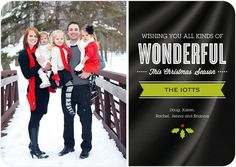 Flat Holiday Photo Cards All Kinds of Wonder - Front : Black