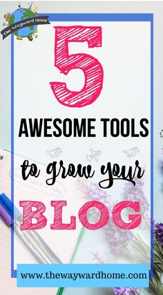 Growing your blog and getting traffic to your blog isn't always easy. Here are 5 tools I've used for my blog and have been very successful. They'll help grow your email list, your social shares, and get better at affiliate marketing. Check it out!